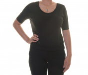 Rebellious One Black Top Blouse Short Sleeve Size M NWT - Movaz