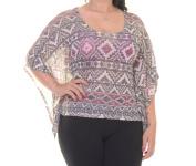 No Comment Sanjua Top Blouse Short Sleeve Size M NWT - Movaz