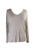 One Clothing Juniors Oatmeal Long-Sleeve Thermal Tunic XL