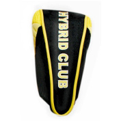 JP Lann Hi-Tech Golf Hybrid Utility Iron Headcover, Black-Yellow