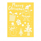 Painting Stencil - Merry Christmas, Santa, Snowman - 22cm x 28cm