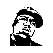 Notorious BIG Stencil Template - Reusable Stencil with Multiple Sizes Available