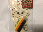 Fall Crafts Native American Boy and Girl Colour With Markers Kit