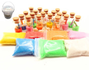 Guaishou DIY Arts and Crafts Kit Wishing Bottles Art Glass Bottles with Cork Colourful Rainbow Sand Sea Shells Mixed Beach Seashells