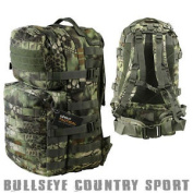Kombat Airsoft Medium Molle Assault Backpack Day Pack Raptor Woodland Camo