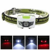 Newyond 4 Modes Led Headlight Running Headlamp (white & Green) Whit-g