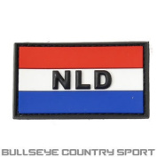 Pvc Rubber Moral Patch Netherlands Flag Red White Blue Airsoft