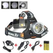 Huntvp Led Head Torch, Xml-t6 2000 Lumens Led Headlight Waterproof Zoomable #2eg