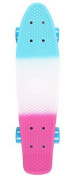 Two Bare Feet Unisex Complete 60cm Retro Cruiser Plastic Skateboard, Blends One