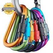 Aluminium Carabiner D Ring Key Chain Clip Spring Lock Hook Outdoor Camping...