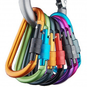 Aluminium Carabiner D-ring Key Chain Clip Spring Clip Lock Carabiner Hook Outdoor