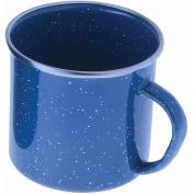 GSI Outdoors Stainless Steel Rim Enamelware Cup, Blue