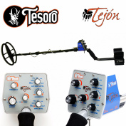 Tesoro Tejon Black Metal Detector with 28cm x 20cm Search Coil and Lifetime Warranty
