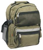 K-Cliffs Large Backpack School Bag Book Bag with Free water bottle 48cm Olive 48cm x 33cm x 20cm