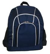 K-Cliffs 41cm Rip-Stop Multi Pocket Backpack School Bag Navy