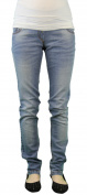 9 Fashion Maternity Pepes Light Blue Low-Panel Jeans Sz S