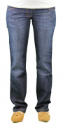 9 Fashion Maternity Santi Indigo Full-Panel Jeans Sz S