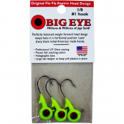 Fle-Fly Big Eye Jig Head, 30ml, Chartreuse
