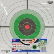 BIRCHWOOD CASEY 30cm EZE-SCORER COMBINATION PLAIN PAPER TARGETS - BULL'S-EYE/SIGHT-IN