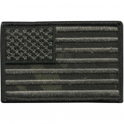 Camouflage USA Patch, 5.1cm x 7.6cm , Multicam-Black