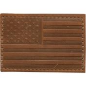 USA Leather Patch, 5.1cm x 7.6cm , Medium Brown