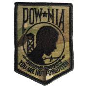 Camouflage POW Shield Shoulder Patch, 7.6cm x 6.4cm , MULTICAM