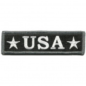 U.S.A. Tactical Morale Patch, 2.5cm x 9.5cm , Black and White