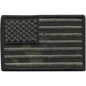 Camouflage USA Shoulder Patch, 5.7cm x 8.9cm , Multicam-Black
