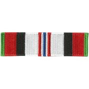 Afghanistan Service Ribbon Morale Patch, 2.5cm x 9.5cm , Multi-Colour
