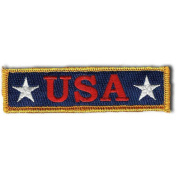 U.S.A. Tactical Morale Patch, 2.5cm x 9.5cm , Red, White and Blue