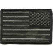 Camouflage Reverse USA Flag Patch, 5.1cm x 7.6cm , MULTICAM-BLACK