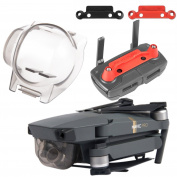 Aterox DJI Mavic Pro Accessories Gimbal Lock & Transport Clip Bundle Remote Controller Joystick protector Camera Guard Lens Cover