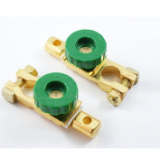 2 - Auto Battery Link Terminal Quick Cutoff Disconnect Master Kill Switch Brass Metal