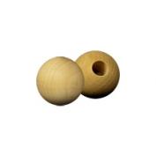 100 Pcs Wood Ball Caps 1.9cm ball w/ 0.6cm hole
