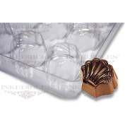 YummyInks Brand Non-Stick Transparent Chocolate Mould, Sea-Shell for PP-1018