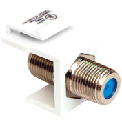 Datacomm Electronics 20-3202-WH Keystone Jack with 2.4GHz F Connector, White