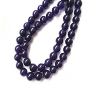bargain house Amethyst Gemstone Beads 6mm Round Purple 15.5 Inches for Jewellery Making,Design,Craft