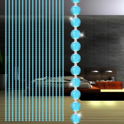 Beads Curtain, jinjiu 1 String Crystal Glass Transparent Round Beaded Curtain Room Wedding Divider