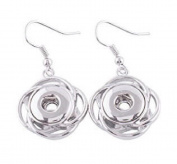Interchangeable Mini 12mm Snap Jewellery Swirl Hook Earrings by My Prime Gifts