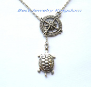 Compass necklace, christmas gift, best friend necklace, Nautical Jewellery,Turtle Necklace Trutle Jewellery Ocean Necklace Natical Jewellery