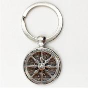 Sacred geometry Glass Gem Key Chains Yoga, Mandala,Buddhist Key Holder, Handmade jewellery ,Keychain