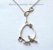 Infinity Necklace ,hand made jewellery,The Perfect Gift ,Bird Necklace, Flower Jewellery, Nature Jewellery