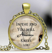 In the end you will always kneel necklace, Glass Cabochon Necklace