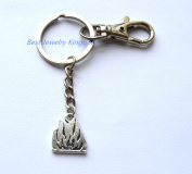 Flame Keychain,Fire Keyring - Car Accessories