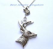 Baby Feet Necklace - Footprint Necklace - New Mom Necklace,Deer Necklace, Deer Pendant, Deer Jewellery, Bridesmaid Gift,Bridesmaid Necklace