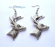 Deer earrings - forest earrings - animal earrings - animal jewellery - deer jewellery,Christmas earrings