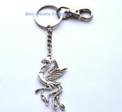 Phoenix bird keychain Phoenix jewellery Fire bird Phoenix key ring Phoenix jewellery Mythical creature Fantasy bird key chain