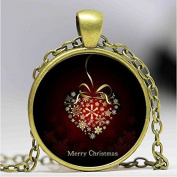 Red love heart necklace, gift, christmas necklace, for lover alloy necklace, christmas jewellery bijoux femme