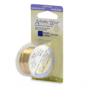 Artistic Wire 18 gauge Silver Plated Gold Colour 4 yards