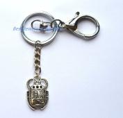 Silver Beetle Charm Keychain, Beetle Keychain,Beetle Bug Keychain, Silver Beetle Charm Keychain